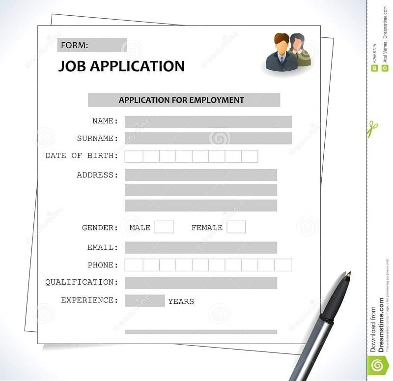 Minimalist Cv Resume Template Job Application Form Abstract 52556725