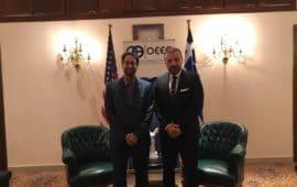 Αλεξανδρούπολη: Συνάντηση Χατζημιχαήλ & Keith Silver