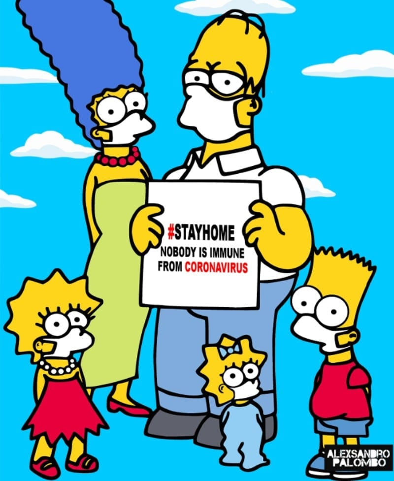 TheSimpsons Stay Home