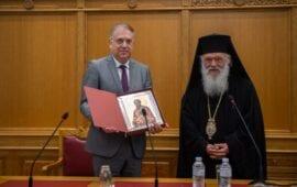 """Θεοδωρικάκος: """"Καθοριστικός ο ρόλος της Εκκλησίας στην ενίσχυση της αλληλεγγύης και στη διατήρηση της κοινωνικής συνοχής"""""""