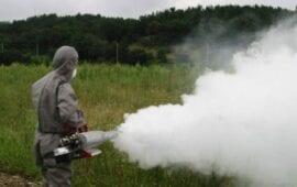 Επίγειος ψεκασμός για την αντιμετώπιση ακμαίων κουνουπιών από εδάφους. (Σουφλί)