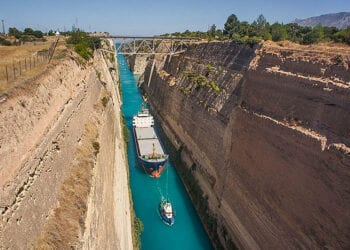 004 Ships Crossing The Canal Of Corinth 350x250